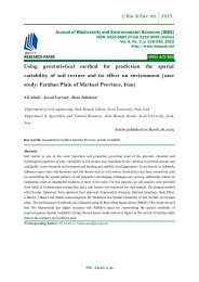 Using geostatistical method for prediction the spatial variability of soil texture and its effect on environment (case study: Farahan Plain of Markazi Province, Iran)