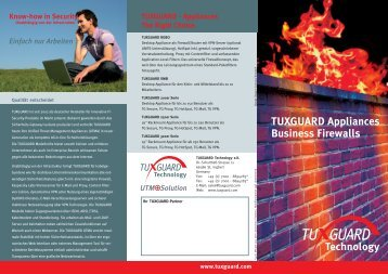 TUXGUARD Appliances Business Firewalls - Tuxguard Technology ...