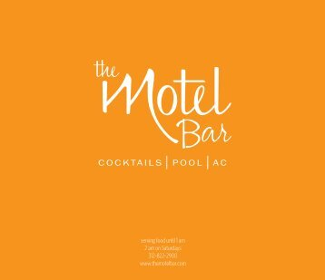 The Motel Bar Flat Menu 090409.indd