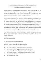 1 GRUPPO DI STUDIO IN NEUROPSICOLOGIA DELL ... - Lice