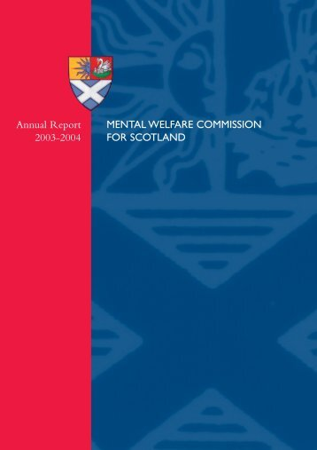 v4 Mental Welfare cover - Mental Welfare Commission for Scotland