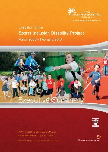 SIDO Evaluation Executive Summary - Sligo Sport and Recreation ...