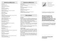 Aktuelle Aspekte des Apothekenrechts und Qualitätsmanagement in ...