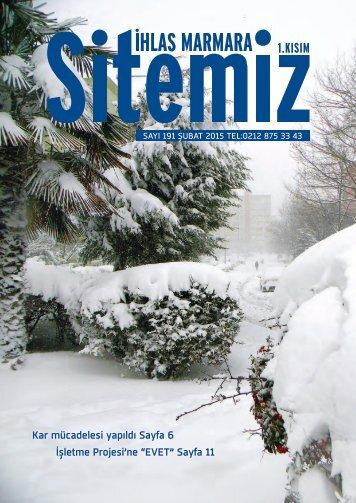"""Kar mücadelesi yapıldı Sayfa 6 İşletme Projesi'ne """"EVET"""" Sayfa 11"""
