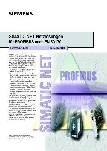 SIMATIC NET - Netzlösungen für PROFIBUS nach EN 50170 - CERN
