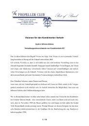 Visionen für den Kombinierten Verkehr - Propeller Club Basel
