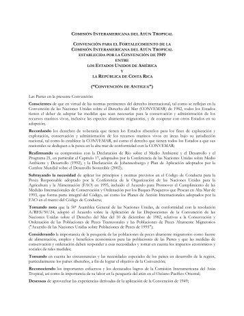 Convención de Antigua - Comisión Interamericana del Atún Tropical