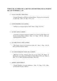 Índice de Autores (PDF) - Revista de Historia de El Puerto