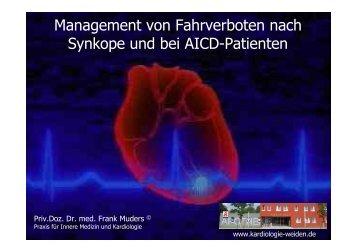 Management von Fahrverboten nach Synkopen und bei AICD ...