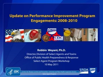 Update on Performance Improvement Program Engagements