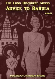 The Long Discourse Giving Advice to Rāhula - Ancient Buddhist Texts