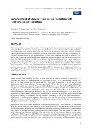 Enhancement of Chaotic Time Series Prediction with Real ... - AHEC