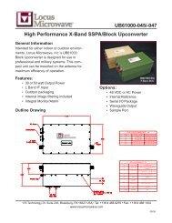 UB61000-045/-047 High Performance X-Band SSPA/Block ... - Codan