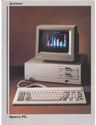 Sperry PC - 1000 BiT