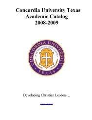 Course Catalog 2008-2009 - Concordia University