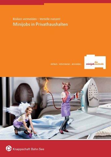 Broschüre: Minijobs in Privathaushalten - rwf-online.de