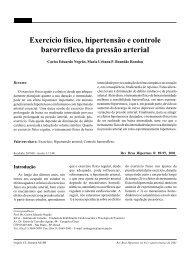 Exercício físico, hipertensão e controle barorreflexo da pressão arterial