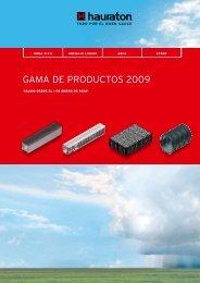 Gama de productos 2009 - Hauraton.com