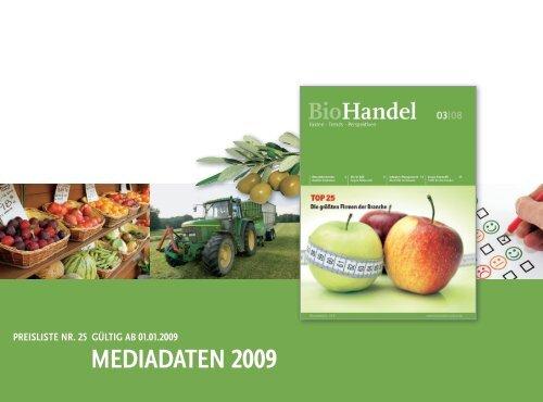 Mediadaten Biohandel 2009