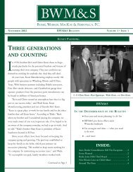 three generations and counting - Burke, Warren, MacKay & Serritella ...