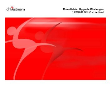 Common Upgrade Challenges - Southern New England User's Group