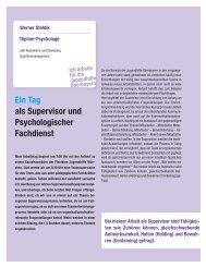 Ein Tag als Supervisor und Psychologischer Fachdienst