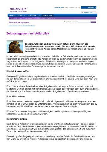 Zeitmanagement mit Adlerblick (PDF)