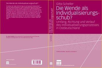 Gitta Scheller, Die Wende als Individualisierungsschub, Umfang ...