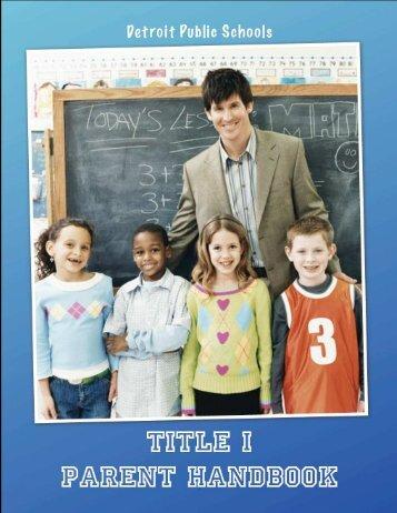 Title I Parent Handbook - Detroit Public Schools