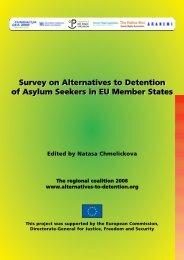 Survey on Alternatives to Detention of Asylum Seekers in EU ...