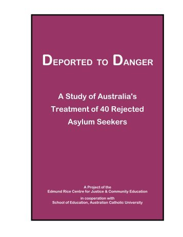DEPORTED TO DANGER - Edmund Rice Centre