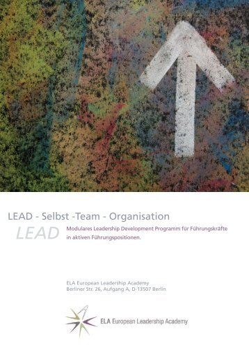 LEAD - Selbst -Team - Organisation - Coaching Center Berlin