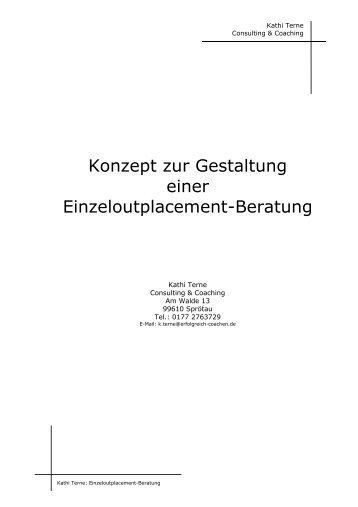 Konzept zur Gestaltung einer Einzeloutplacement-Beratung