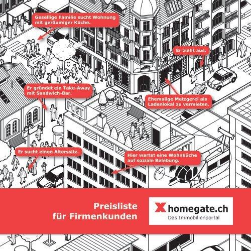 Preisliste für Firmenkunden - Myhomegate.ch