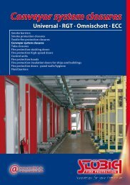 Conveyor system closures - Stoebich Fire Protection