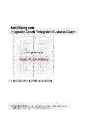 Curriculum - Coaching Center Berlin