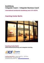 Ausbildung Integraler Coach / Integraler Business Coach Coaching ...