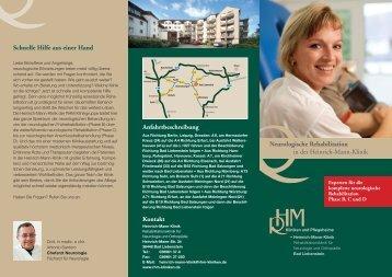 Info-Flyer Neurologische Rehabilitation - Heinrich Mann Klinik