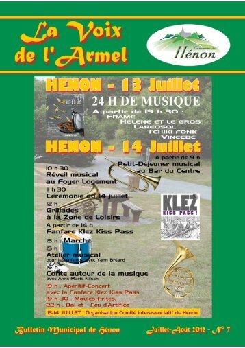 Henon - La Voix de l Armel - ete 2012.pdf - Mairie de Henon