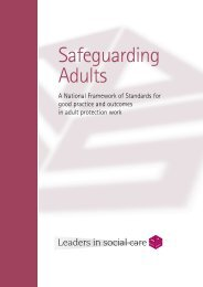 Safeguarding Adults - ADASS - Action on Elder Abuse