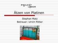 Ätzen von Platinen - Projektlabor - TU Berlin