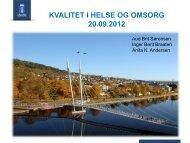 Kvalitet i helse og omsorg - Drammen kommune