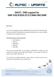 DHCP / DNS support for XMP-K32/K32SX/K12/CMM/TMC3500