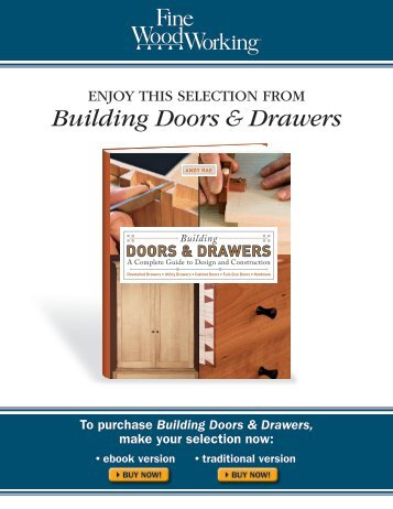 Building Doors & Drawers - The Taunton Press