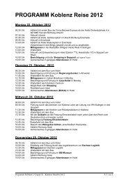 PROGRAMM Koblenz Reise 2012 - Polmarco