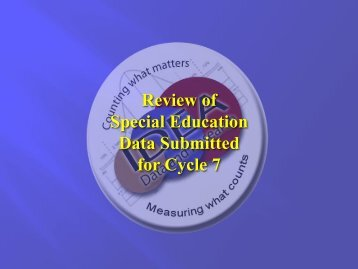 Cycle 7 Review - ADE Special Education