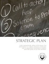 Strategic Plan Summary - Milton Academy