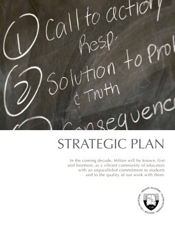 Strategic Plan Summary - Milton Academy