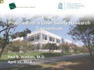 Proposal for a Liver Safety Research Consortium - AASLD