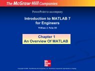 Introduction to MATLAB 7 for Engineers Chapter 1 An ... - FET